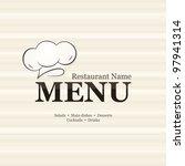 restaurant menu design  with... | Shutterstock .eps vector #97941314