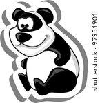 cute cartoon panda | Shutterstock .eps vector #97951901