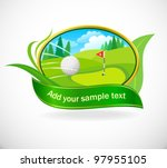 golf ball and beautiful golf... | Shutterstock .eps vector #97955105