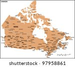 canada country map | Shutterstock .eps vector #97958861
