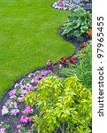 landscaped yard and garden. a... | Shutterstock . vector #97965455