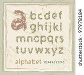 english alphabet in grunge style   Shutterstock .eps vector #97978184