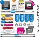 mega web designing element set | Shutterstock .eps vector #97990619
