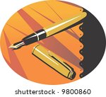 a fountain pen  | Shutterstock .eps vector #9800860