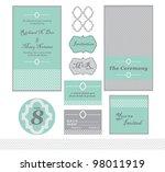 wedding announcement invitation ... | Shutterstock . vector #98011919