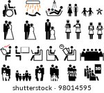 set of people icons | Shutterstock .eps vector #98014595