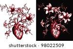 flower heart | Shutterstock .eps vector #98022509