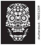 day of the dead skull | Shutterstock . vector #98031209