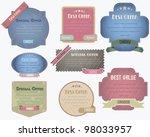 vintage label   web banner... | Shutterstock .eps vector #98033957