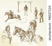 wild west | Shutterstock .eps vector #98037224