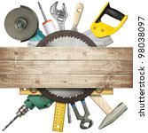carpentry  construction... | Shutterstock . vector #98038097