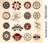 retro label collection | Shutterstock .eps vector #98043389