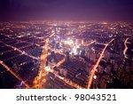 night view of shanghai lujiazui ...   Shutterstock . vector #98043521