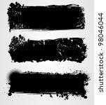 set of three black grunge... | Shutterstock .eps vector #98046044