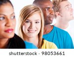 group of young international... | Shutterstock . vector #98053661