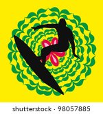 floral surf | Shutterstock .eps vector #98057885