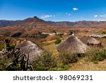 mountain village  in africa on... | Shutterstock . vector #98069231