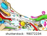 illustration of craft doodle... | Shutterstock .eps vector #98072234