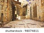Alley In Jerusalem Old City ...