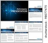 presentation template  ... | Shutterstock .eps vector #98077475