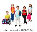 primary school students with... | Shutterstock . vector #98085134