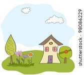 spring greeting card | Shutterstock .eps vector #98086229