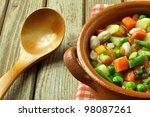 rustic food - stock photo