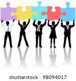 team of business people... | Shutterstock .eps vector #98094017