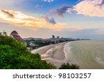 Sun Set Time At Hua Hin Beach...