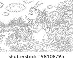 goat carrying a scythe and sack ... | Shutterstock . vector #98108795
