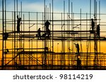 construction site  silhouettes... | Shutterstock . vector #98114219