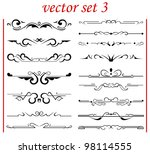 vector set 3  calligraphic... | Shutterstock .eps vector #98114555