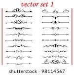 vector set 1  calligraphic... | Shutterstock .eps vector #98114567