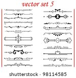 vector set 5  calligraphic... | Shutterstock .eps vector #98114585
