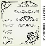 vector set  calligraphic design ... | Shutterstock .eps vector #98114591