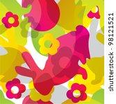 seamless easter pattern | Shutterstock . vector #98121521