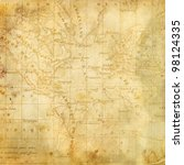 background with the old map of... | Shutterstock . vector #98124335