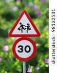children crossing sign | Shutterstock . vector #98132531