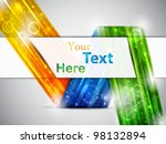 colorful business card. vector... | Shutterstock .eps vector #98132894