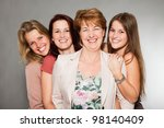 happy family of mother with...   Shutterstock . vector #98140409