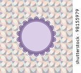 vintage frame with abstract... | Shutterstock .eps vector #98155979