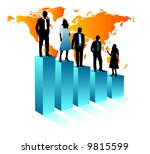 illustration of business people | Shutterstock .eps vector #9815599