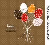 Easter floral design with eggs, holiday card - stock vector