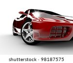 a modern and elegant red car... | Shutterstock . vector #98187575