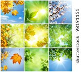 nature collage | Shutterstock . vector #98191151