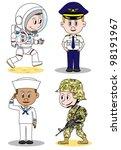 military occupation children...   Shutterstock .eps vector #98191967