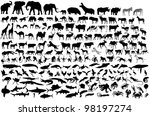 Stock photo animal silhouettes collection 98197274