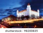 bratislava castle from...   Shutterstock . vector #98200835