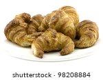 six mini croissant   fresh... | Shutterstock . vector #98208884