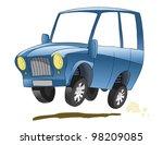 vector illustration  a suv | Shutterstock .eps vector #98209085
